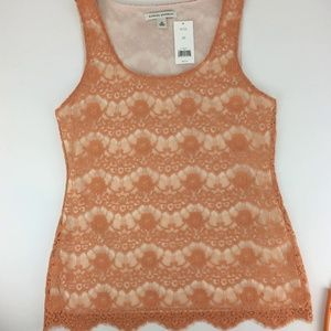 NWT!!  BANANA REPUBLIC lacy tank top